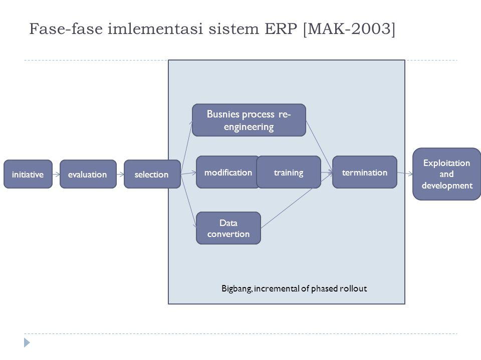 Fase-fase imlementasi sistem ERP [MAK-2003]